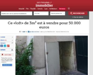 Цены на недвижимость Парижа сходят с ума? За €50 000 на продажу выставлен «лофт» площадью 3 кв. м