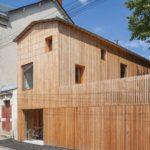 Оригинальный деревянный дом в Нанте