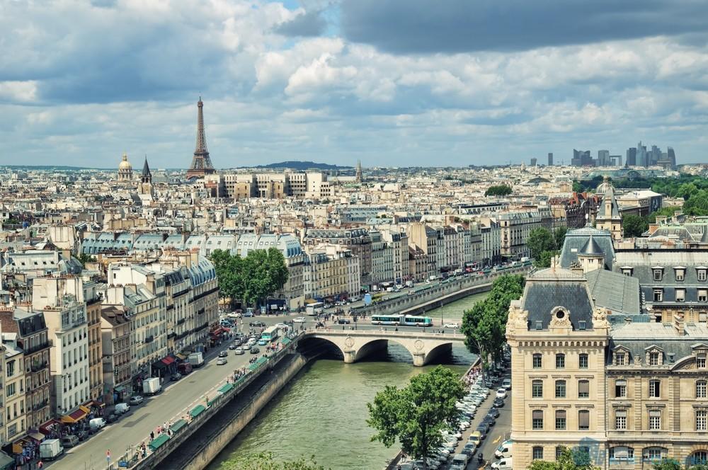 Франция: средняя площадь имущества для аренды