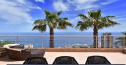 Двухэтажные апартаменты в Босолей с видом на море и Монако