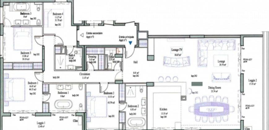 Купить 5 комнатные апартаменты в Монако за 13900000 Евро