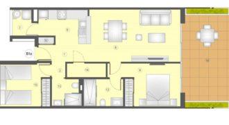 Апартаменты в Аликанте, Испания, 92 м2