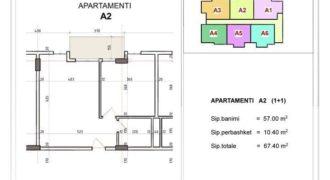 Апартаменты в Дурресе, Албания, 66 м2