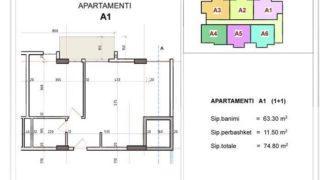 Апартаменты в Дурресе, Албания, 74.8 м2