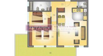 Апартаменты в Петроваце, Черногория, 93 м2
