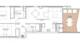 Апартаменты в Торревьехе, Испания, 63 м2