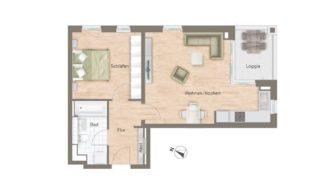 Квартира в Мюнхене, Германия, 66.21 м2
