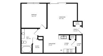 Квартира в Тампе, США, 67.82 м2