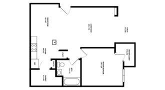 Квартира в Тампе, США, 69.58 м2