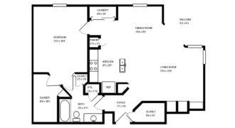 Квартира в Тампе, США, 80.27 м2