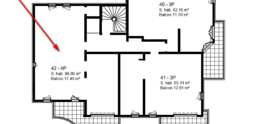 Квартира на втором этаже коттеджа Batiment 1 в новостройке Parc Bellevue
