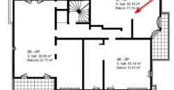 Квартира на третьем этаже коттеджа Batiment 1 в новостройке Parc Bellevue