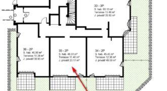 Квартира на этаже сада коттеджа Batiment 1  в новостройке Parc Bellevue