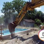 В Ницце выкапывали бассейн с помощью динамита